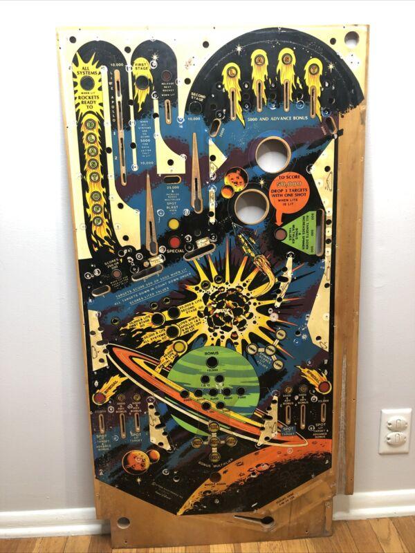 Stern Flight 2000 Pinball Machine Used Playfield. Retro Wooden Art. Flight 2K