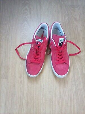 classic Puma red Suede Mens Trainers Size UK 11 good condition