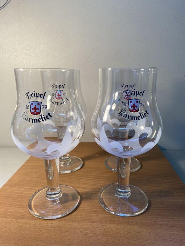 Tripel Karmeliet beer glasses , set of 4