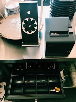 POS bundle with cash register, printer and iPad stand