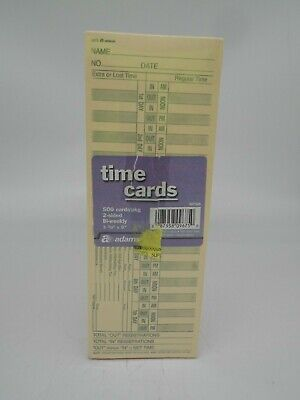 Adams 2 Sided Time Cards-500 Count