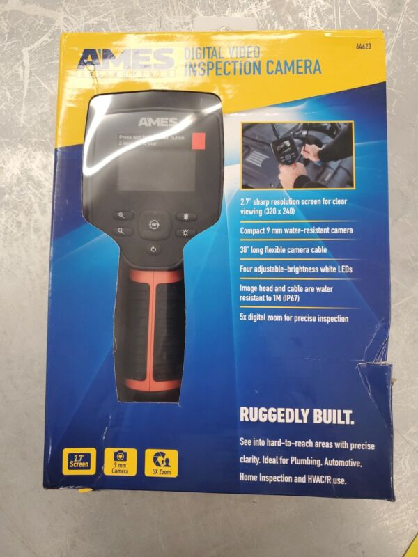 """Ames - Digital Video Inspection Camera (64623) 2.7"""" Screen 5X Zoom SEALED NEW"""