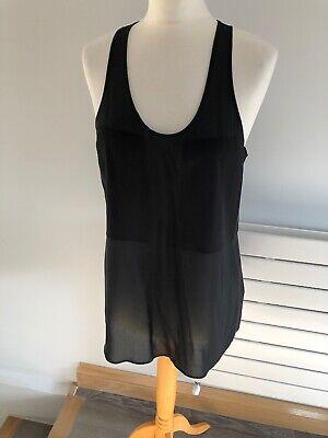 T Alexander Wang Ladies 100% Silk Sleeveless Black Top Size M