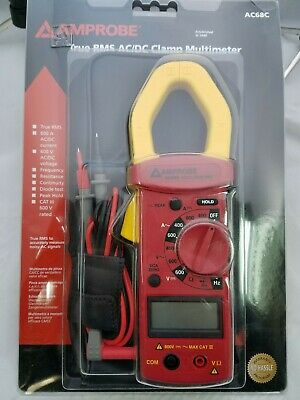 Amprobe Ac68c True Rms Acdc Clamp Multimeter New In Package 1