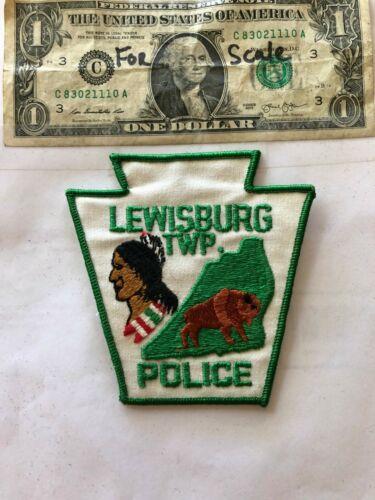 Lewisburg Pennsylvania Police Patch (TWP) un-sewn great shape