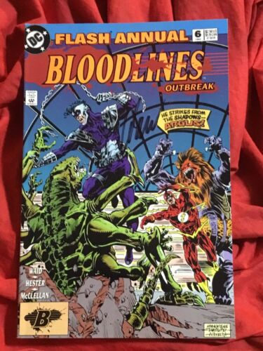 THE FLASH ANNUAL #6~BLOODLINES~SIGNED BY WRITER MARK WAID~DC COMICS BOOK~B
