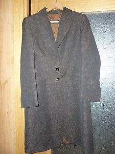 Behy-barlay-precioso-abrigo-forrado-mujer-talla-M-l-42-44-coat-size-14-uk-MARRON