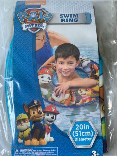 """PAW PATROL Kids 20"""" Swimming Swim Ring Tube Pool Toy Floats"""