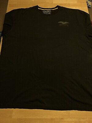 Nautica T-Shirt Men's 5XL Big & Tall Black Tee with Eagle Back Nautica Jeans Co.