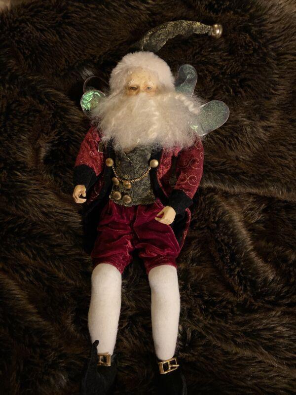 "Mark Roberts Santa Claus Fairy Elf Winged 18"" Large FLAW"