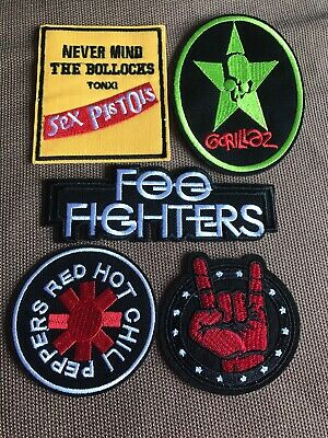 Set Of 5 Job Lot Alternative Rock Music Iron On Festival Patches Best