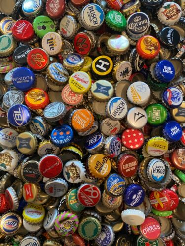 1000+ ASSORTED (60+ Different) BEER BOTTLE CAPS Many Colors!!! B