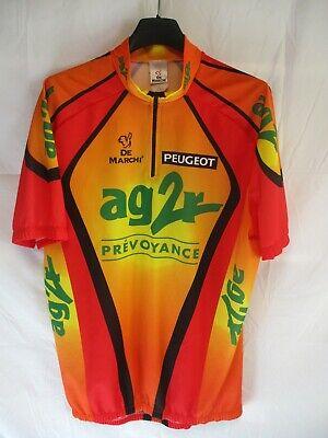 Maillot cycliste AG2R PEUGEOT vintage DE MARCHI shirt maglia trikot camiseta XXL