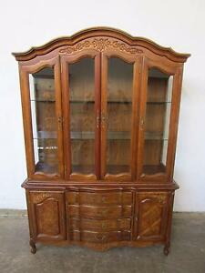 D5073 Lovely Vintage French Style Walnut Cabinet Bookcase Mount Barker Mount Barker Area Preview