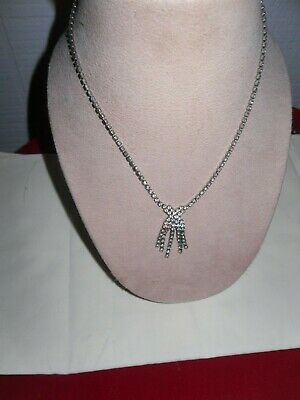 1930s Art Deco Style Jewelry 1930'S TO 50'S  WEDDING SOMETHING OLD   RHINESTONE CHOKER NECKLACE $15.00 AT vintagedancer.com