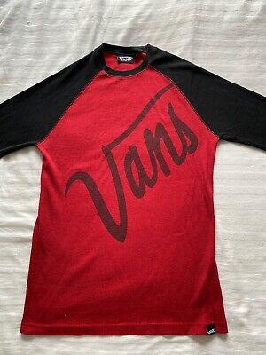 Vans Men's Jumper Large Red And Black Vintage