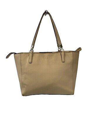 Coach Madison 29002 Tan Saffiano Leather East/West Tote Bag