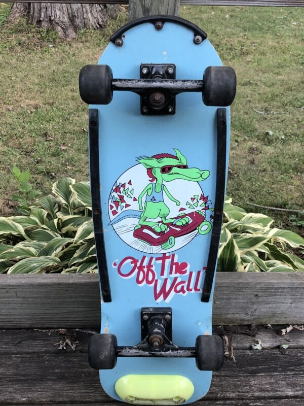 RARE Vintage Vans OFF THE WALL Skateboard Old School Retro 80s 90s Deck Complete