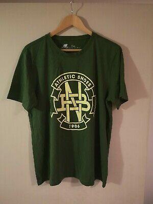 Men's New Balance T Shirt Green Size Extra Large