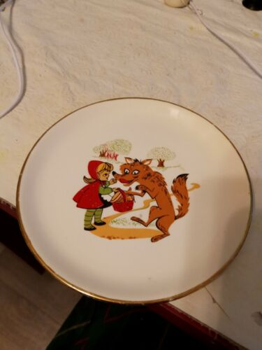 Vintage Little Red Riding Hood Plate by Shafer USA