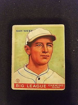 san francisco d28c2 dadc6 1933 Goudey Baseball Card   166 Sam West RC