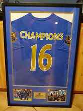 Leicester City EPL Premier League Champions Framed Shirt Seville Grove Armadale Area Preview
