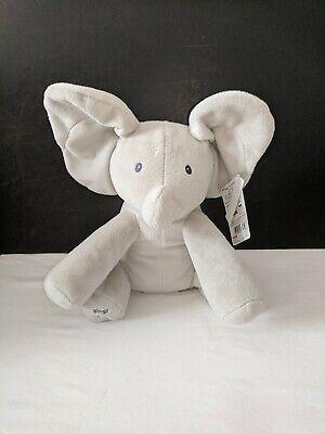 "Baby GUND Animated Flappy the Elephant Stuffed Animal Plush 12"" NEW"