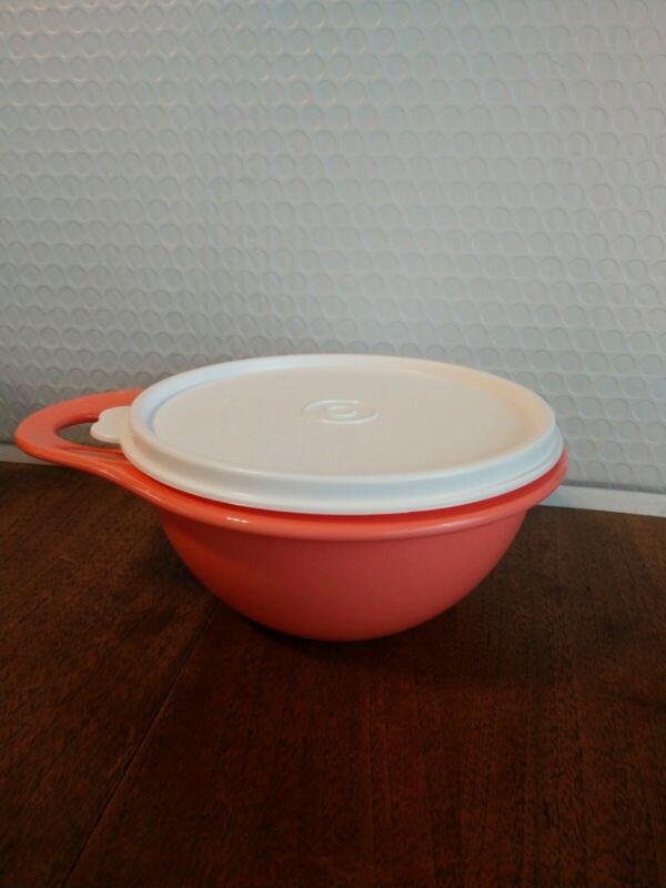 NEW Tupperware Thatsa Bowl Extra Mini Peach w/White Seal 2.5 Cups FREE SHIP