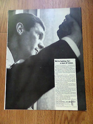 1966 Equitable Life Insurance Ad Man Of Vision