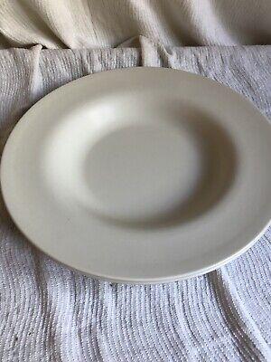 "Lot 2 Carlisle Durus Melamine Salad Pasta BOWL Narrow Rim 12"" Dia Vintage Cream Cream White Narrow Rim"