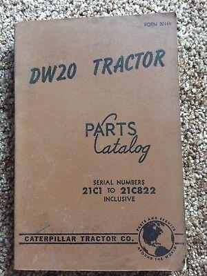 Caterpillar Dw20 21c1-822 Cat Tractor Manual Shop Service Parts Book