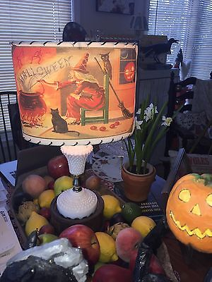 WITCH STIRRING CAULDRON Halloween Lamp Shade From Vintage Halloween Images USA - Halloween Decorations Witches Cauldron