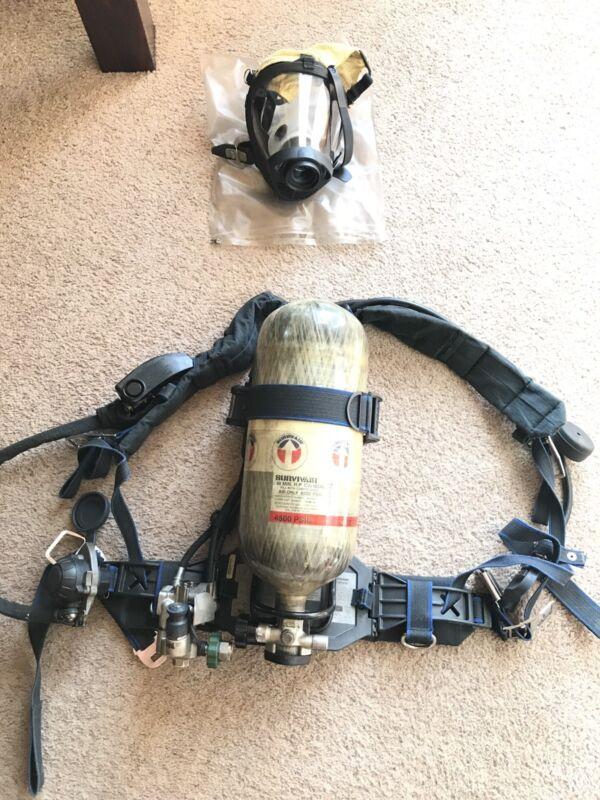 Survivair Panther HP45 APPARATUS (SCBA) - Mask, Compass Pass, Doubler And Case!