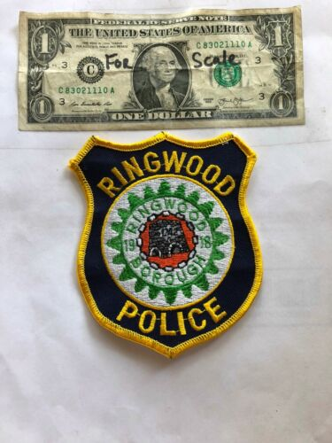 Ringwood New Jersey Police Patch  un-sewn in Great Shape