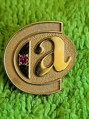 VINTAGE 10K GOLD C & A SERVICE AWARD PIN EXCELLENT CONDITION RUBY SCRAP 3.36G