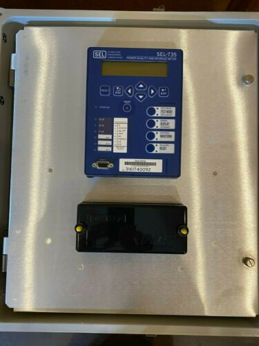 Schweitzer SEL-735 Power Quality & Revenue Meter in Enclosure w/Calibration Data