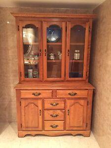 Beautiful maple China cabinet