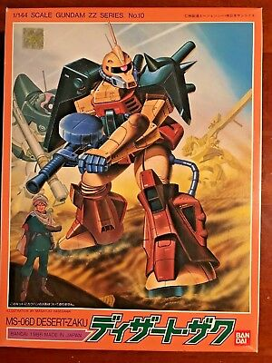 ZZ Gundam Series # 10 Desert Zaku 1/144 Bandai 1986 (Vintage Model Kit)