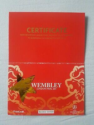 Cartolina/Postcard UEFA Champions League Final Wembley 2011 Barcelona Manchester