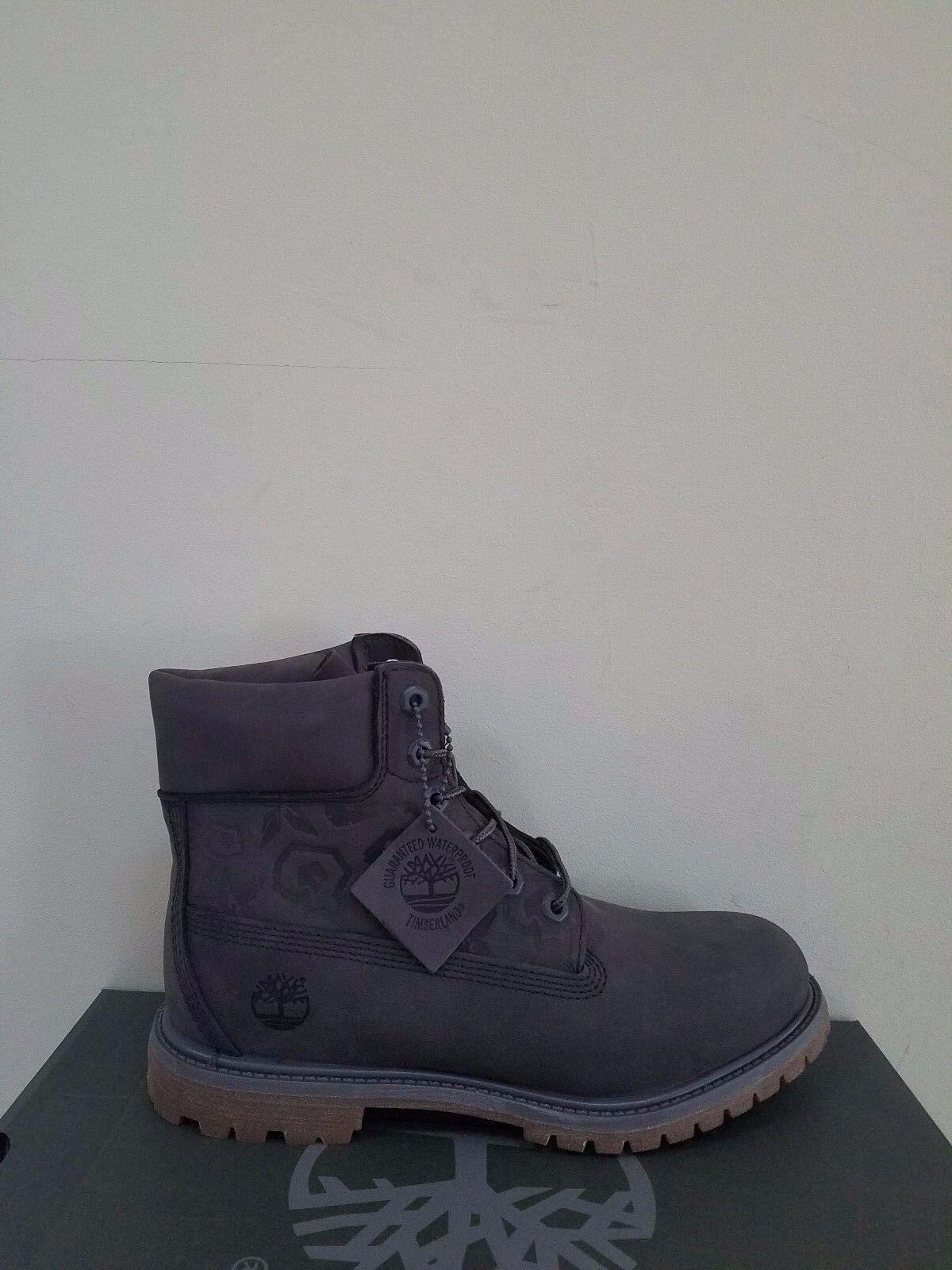 "Timberland Women's Embossed 6 inch"" Double Sole Premium Waterproof Boots NIB"