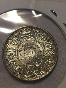 British India 1939 half rupee