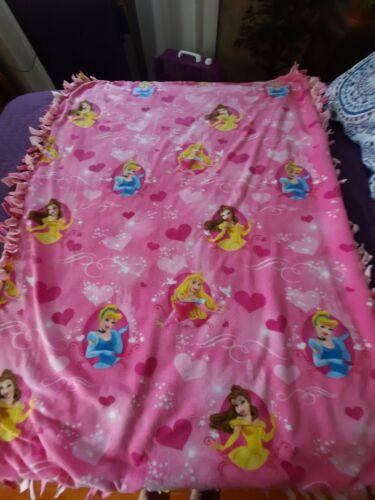 Handmade Disney Princesses Fleece Tied Blanket Double layered
