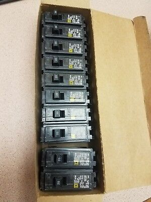 New Box Of 10 Square D Hom120 Breaker 1p 20a 120240v Hacr Type Hom 10ka