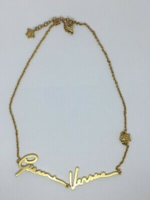 Auth VERSACE Medusa Signature Gold Necklace - Pre owned / M0882