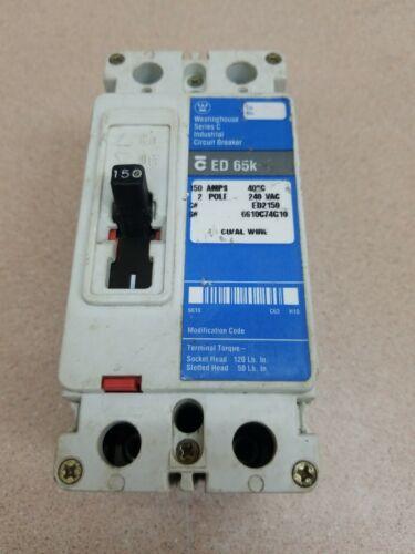 Cutler Hammer ED 65k 3 pole 150 amp 240v ED3150 Circuit Breaker Blue Label