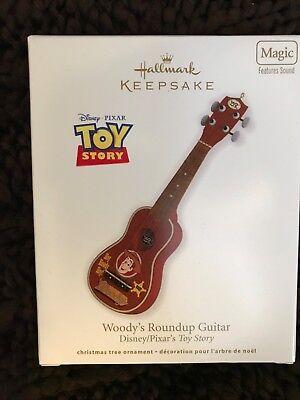 hallmark ornament. woodys roundup guitar - Guitar Ornaments