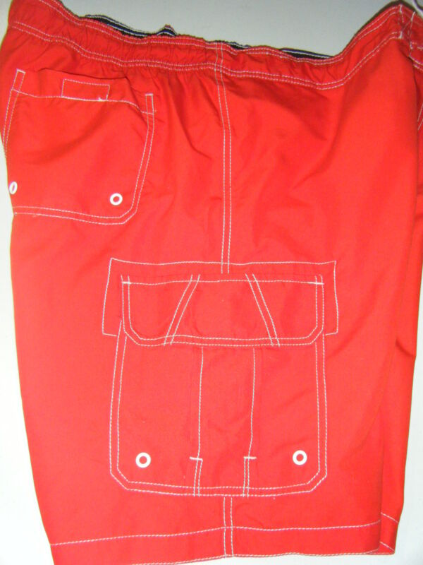 MENS MERANO RED XL BACK AND CARGO POCKET LINED INSEAM 9