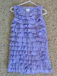 3T crewkids lavender ruffle tiered dress - perfect cond