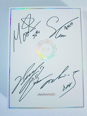 """MAMAMOO 9th Mini Album """"White Wind"""" Autograph (Signed) Album - Not For Sale"""