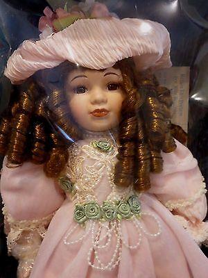 """VTG Seymour Mann 18"""" Porcelain Doll w/ Stand - Karen - Never Removed from Box"""